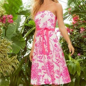 Lilly Pulitzer sienna strapless dress sz 12